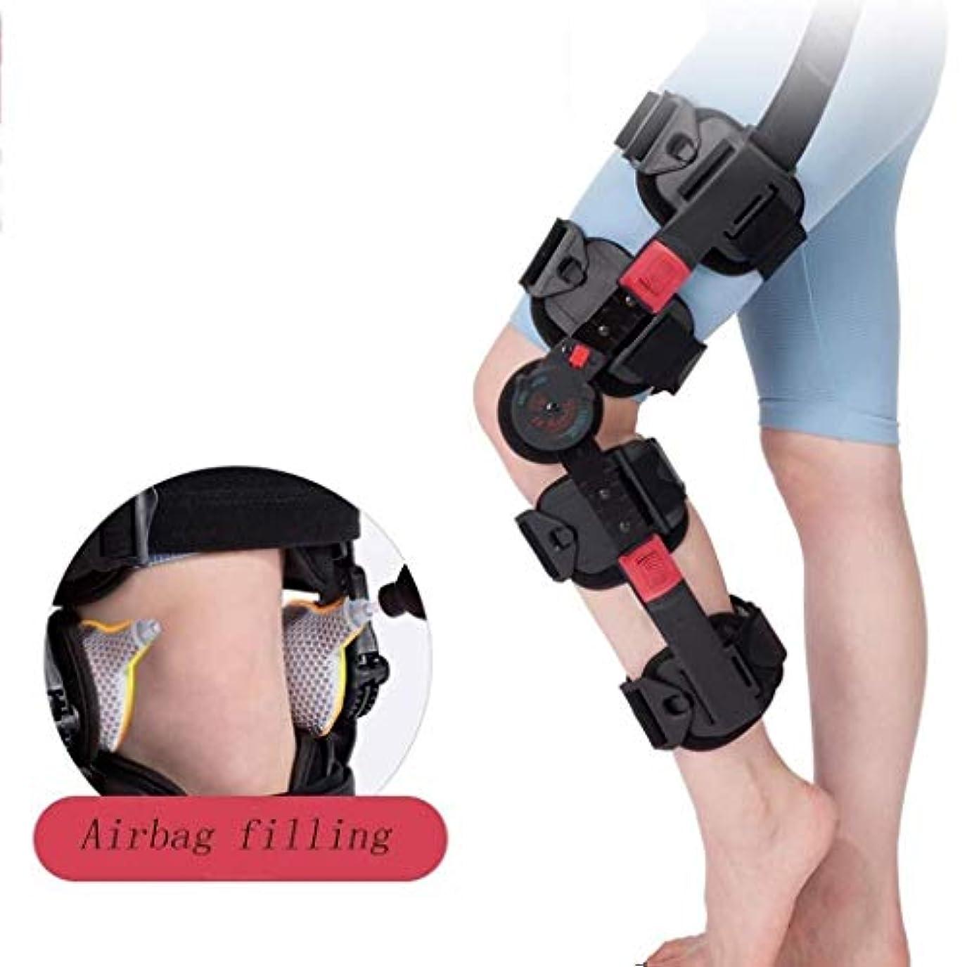 シプリー式捧げるヒンジ式ROM膝ブレース、調節可能なポストOP膝蓋骨ブレースサポートスタビライザーパッド装具スプリントラップ医療用整形外科用ガードプロテクター