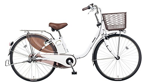 Panasonic(パナソニック) 2017年モデル ビビ・DX 26インチ カラー:ホワイトパールクリア BE-ELD633-F2 電動アシスト自転車 専用充電器付 -