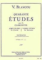 ブランク : 40の練習曲 第一巻 (クラリネット教則本) ルデュック出版