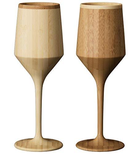 リヴェレット(RIVERET) ワイングラス ホワイト/ブラウン 180ml シェリー ベッセル ペアセット RV-112WB 2個入