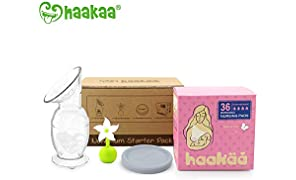Haakaa New Mum Starter Pack Breast Pump Stopper Nursing pad