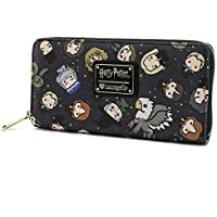 Loungefly Harry Potter Chibi Character Zip Around Wallet