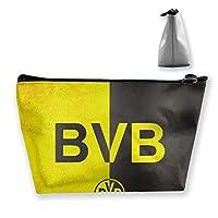 Borussia Dortmund 化粧ポーチ 人気 大容量 台形 メイクポーチ トラベルポーチ 旅行 ハンドバッグ コスメ コイン 鍵 小物入れ 化粧品 収納ケース 小さな化粧品の袋