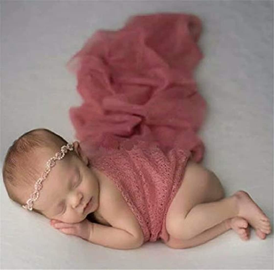 おっと通り手数料七里の香 生まれたばかりの赤ちゃんの写真の衣装 赤ちゃんの男の子の女の子の写真撮影のための新生児の写真の小道具毛布のたたきレースのラップ 赤ちゃん用