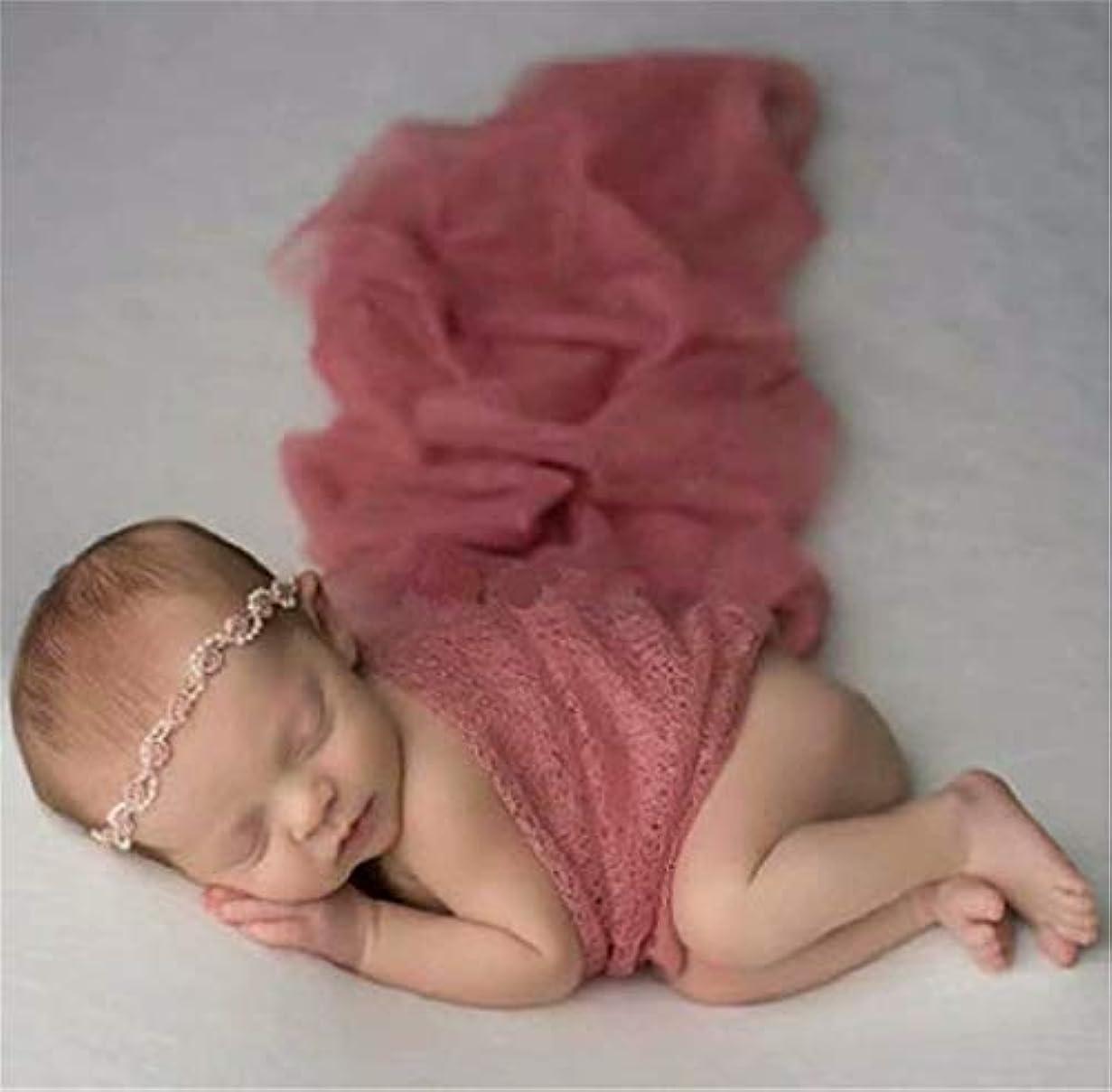 警告する系譜確かめる七里の香 生まれたばかりの赤ちゃんの写真の衣装 赤ちゃんの男の子の女の子の写真撮影のための新生児の写真の小道具毛布のたたきレースのラップ 赤ちゃん用