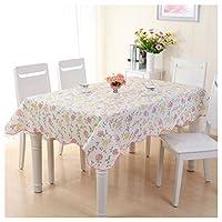 テーブルクロス防水オイル耐性ヨーロッパスタイルのPVCテーブルリネンテーブルカバーテーブルマットリビングルームレストランディナーテーブルカフェテーブル UOMUN (Color : Red rose, Size : 152*152cm(60*60inch))