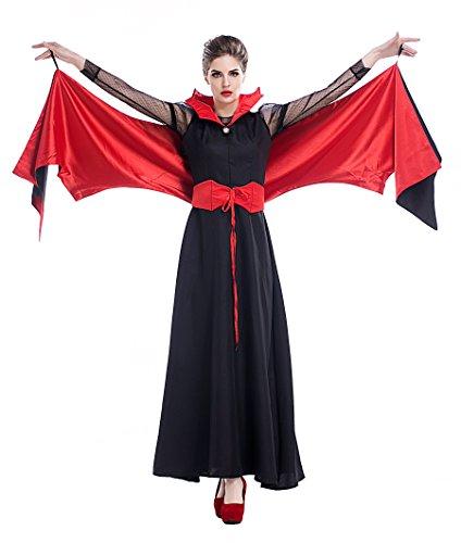 コスプレ 衣装 仮装 コスチューム ドラキュラ 蝙蝠 女性用 cos服 ハロウィン Halloween 万聖節 クリスマス 9247 (M)