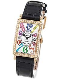 7a5989e3c6 フランクミュラー ロングアイランド カラードリームズ ダイヤ PG金無垢 クロコレザー 腕時計 レディース FRANCK MULLER