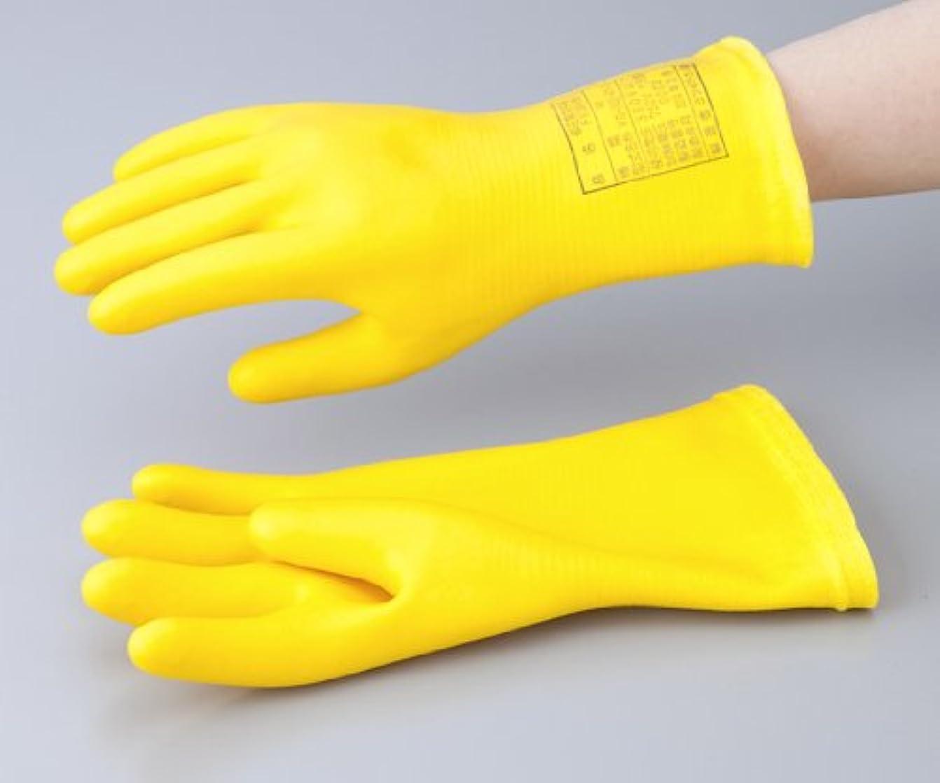 焦げ召集する大学院1-3686-03低圧用発泡手袋M