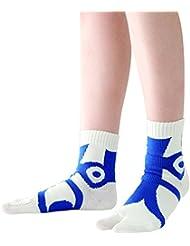 快歩テーピング靴下 ホワイト×ブルー