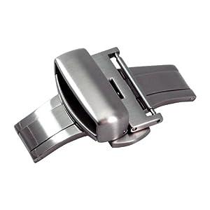 [カシス]CASSIS 'PBF BUCKLE SILVER プッシュ式観音開きDバックル サテンシルバー 20mm CA SSS 020