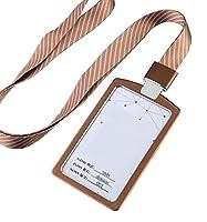 アルミニウム合金垂直スタイルネックストラップストラップ付きIDカードバッジホルダー3個、 33