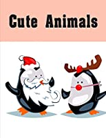 Cute Animals: Children Coloring and Activity Books for Kids Ages 3-5, 6-8, Boys, Girls, Early Learning (Zoo Design)