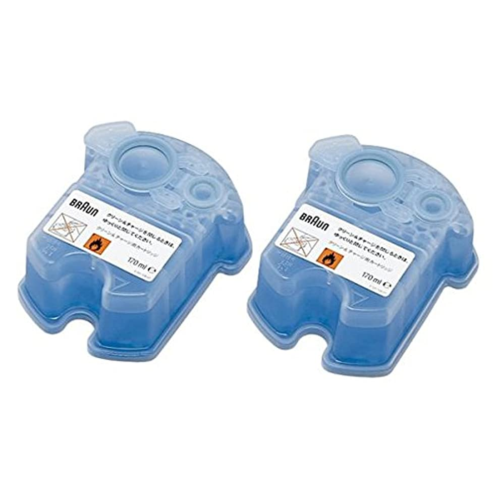 BRAUN(ブラウン) クリーン&リニュー専用 洗浄液カートリッジ CCR2CR 2個入 家電 生活家電 [並行輸入品]