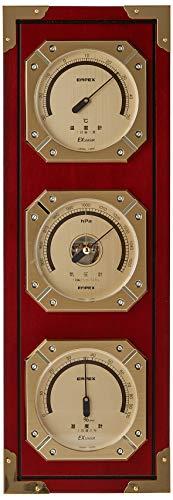 エンペックス気象計 温度湿度計 ウェザーマスター気象計 壁掛け用 日本製 ブラウン BM-751