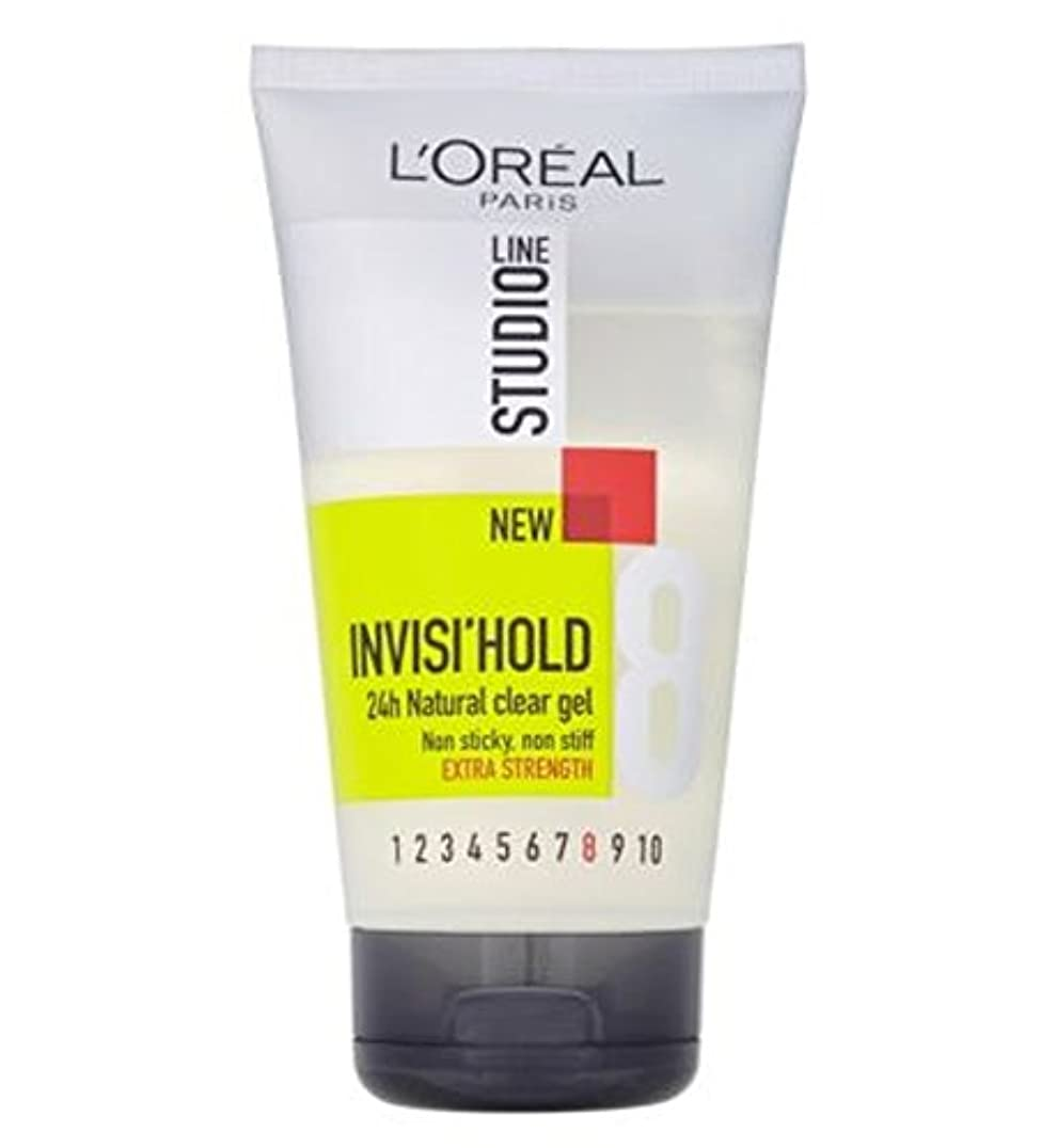 L'OreallスタジオラインInvisiホールドゲル強力な150ミリリットル (L'Oreal) (x2) - L'Oreall Studio Line Invisi Hold Gel Strong 150ml (Pack...
