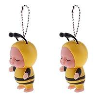 キーホルダー ペンダント 人形 赤ちゃん人形 おもちゃ バッグ飾り 贈り物 2個 全6選択 - タイプ2