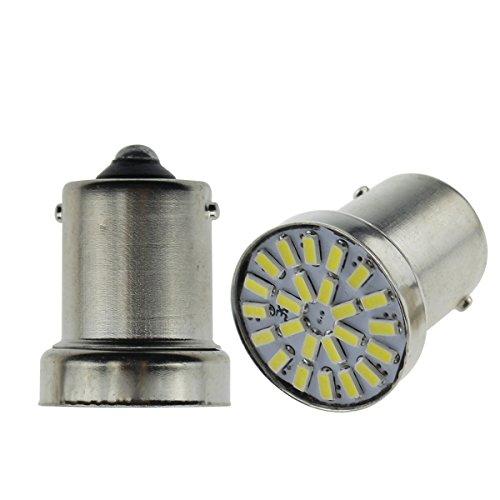 12V-24V 車用 BA15S P21W 1156 S25 G18 LEDバルブ LEDライト LEDランプ24連3014SMD バックランプ 汎用 変換 超高輝度 12V-24V ホワイト 6000-6500K(2個セット)