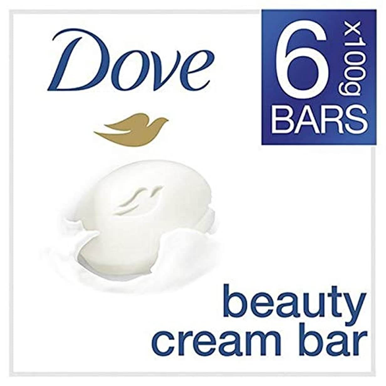 廃棄するリングレット玉ねぎ[Dove ] 鳩元美容クリームソープバー6のX 100グラム - Dove Original Beauty Cream Soap Bar 6 x 100g [並行輸入品]