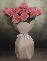 【セール】六角 フラワー チェスト 花束 プレゼント 母の日 ギフト ボックス 花瓶 梱包 花 材料