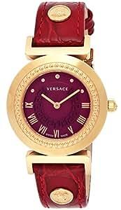 [ヴェルサーチ]VERSACE 腕時計 VANITY レッド文字盤 ステンレス(PGPVD)ケース カーフ革ベルト P5Q80D800S800 レディース 【並行輸入品】