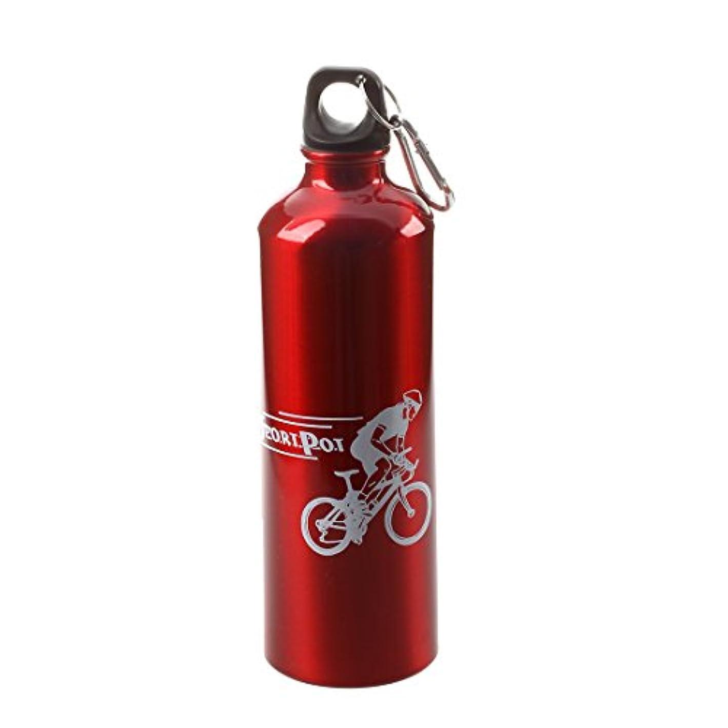 容赦ない売り手椅子Semoic 水筒ウォーターボトルスポーツサイクリングキャンプレッドアルミ