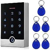 Security Door Access Control Keypad, RFID Keypad with ID Key Fobs, Stand-Alone Keypad, Door Lock Keypad Controller, for Gate