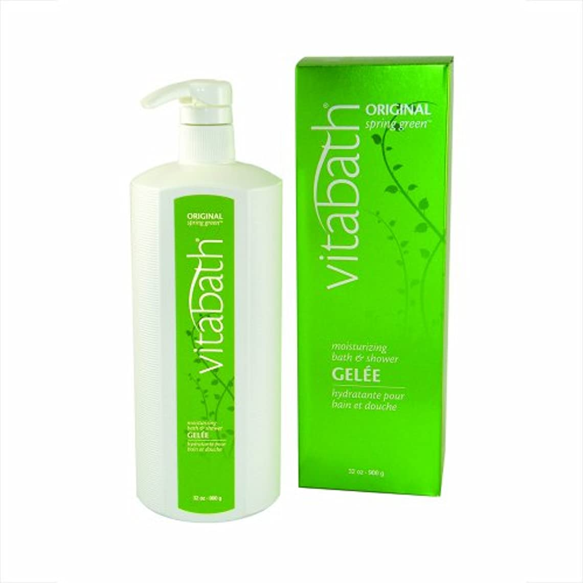 キャストラップブリッジVitabath Original Spring Green Moisturizing Bath & Shower Gelee 32 oz bath gel by Vitabath
