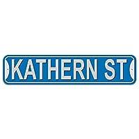 Kathern 通り - 青 - プラスチック壁符号