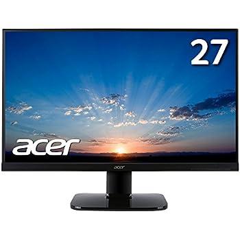【Amazon.co.jp限定】Acer モニター ディスプレイ KA270HAbmidx 27インチ/フレームレス/VA/HDMI端子対応/スピーカー内蔵/ブルーライト軽減