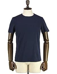 GIRELLI BRUNI ジレッリブルーニ メンズ コットン クルーネック 半袖 Tシャツ G656CB BLUEBLACK (ネイビー)