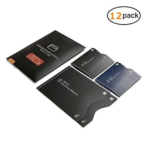 VINKO カードケース RFID 磁気防止 スキミング防止 クレジットカード ICカード パスポート ケース 12枚(2色)