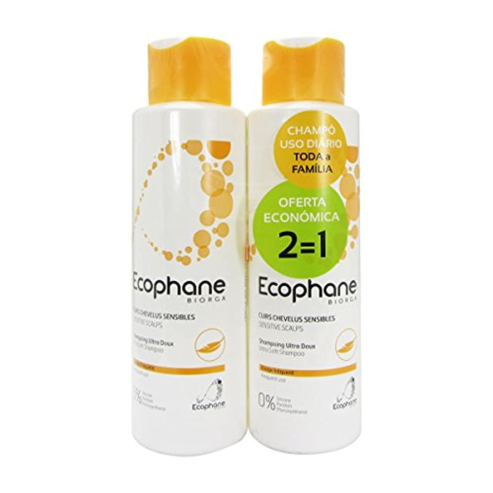 汚れるアンテナショットBiorga Ecophane Pack Ultra Soft Shampoo 2x500ml [並行輸入品]