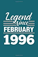 Legend Since February 1996 Notebook: Cornell Notes Journal - 6 x 9, 120 Pages, Affordable Gift, Teal Matte Finish