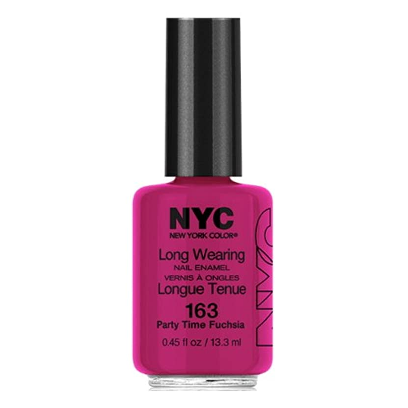 更新防止ボーナス(6 Pack) NYC Long Wearing Nail Enamel - Party Time Fuschia (並行輸入品)