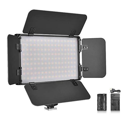 UTEBIT 撮影用 照明 LED 15W 専用バッテリ NP-F550 セット 最大1500ルーメン 撮影ライト バイカラー 調光 ビデオ カメラ 照明 写真撮影 撮影スタジオ用 定常光 アルミ製 PT-15B II [並行輸入品]