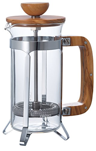 HARIO (ハリオ) カフェプレス ウッド コーヒー & ティー プレス 2人用 CPSW-2-OV