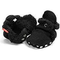 Tutoo Unisex Baby Shoes Boys Girls Slippers Newborn Infant Cotton Booties Soft Anti-Slip Sole Fleece Bootie