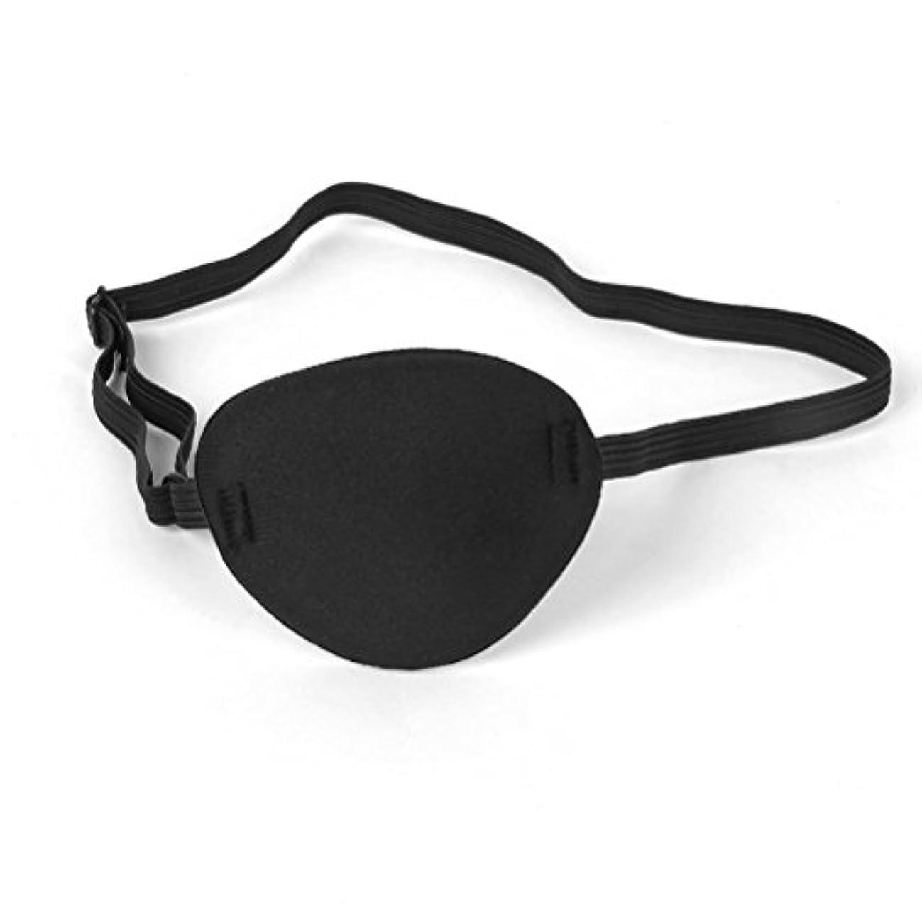 司令官思いやり尊敬するHealifty パイレーツスカルクロスボーンキッズアイパッチアイマスクfor Lazy Eye(Black)