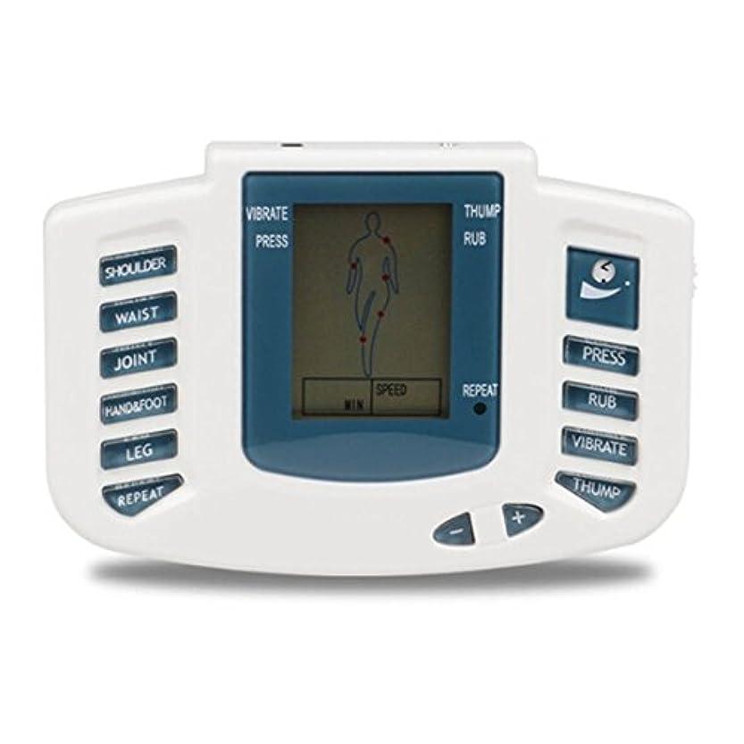 分泌する推論スカウトUniSign TENS MACHINE 電子パルスマッサージャー機 ボディ 低周波治療器 リラックス 痛み緩和 16つパッド 10レベル
