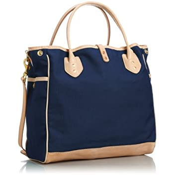 Canvas Tote w/ Strap 7631: Navy