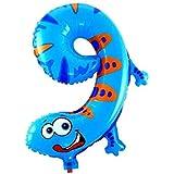 動物数字バルーン GerTong 16インチ パーティーバルーン 文化祭?誕生日?プロポーズ?クリスマス?パーティー?記念日 アクセサリー かわいい (数字9)