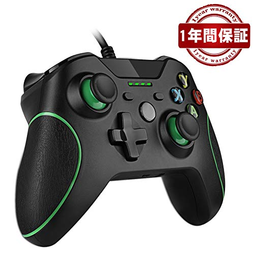 Xbox ONE コントローラー ゲームパッド有線PC適応RegeMoudal PC ゲームコントローラ有線 USB Windows PC (XP、WIN7、WIN8、WIN10) 二重振動 人体工学 … (黒)