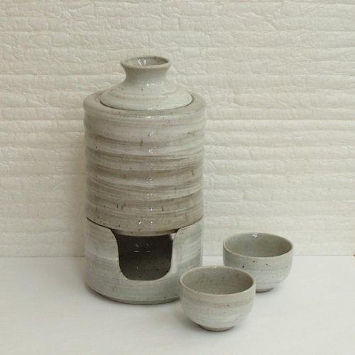 燗冷器セット 青磁刷毛 陶器 美濃焼