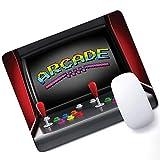 ビデオゲーム ゲーム用マウスパッド アーケードマシン レトロ ゲーミング 楽しいジョイスティック ボタン ビンテージ 80年代 90年代 電子サポート マウスパッド マルチカラー 10×12インチ (250mm×300mm×3mm)