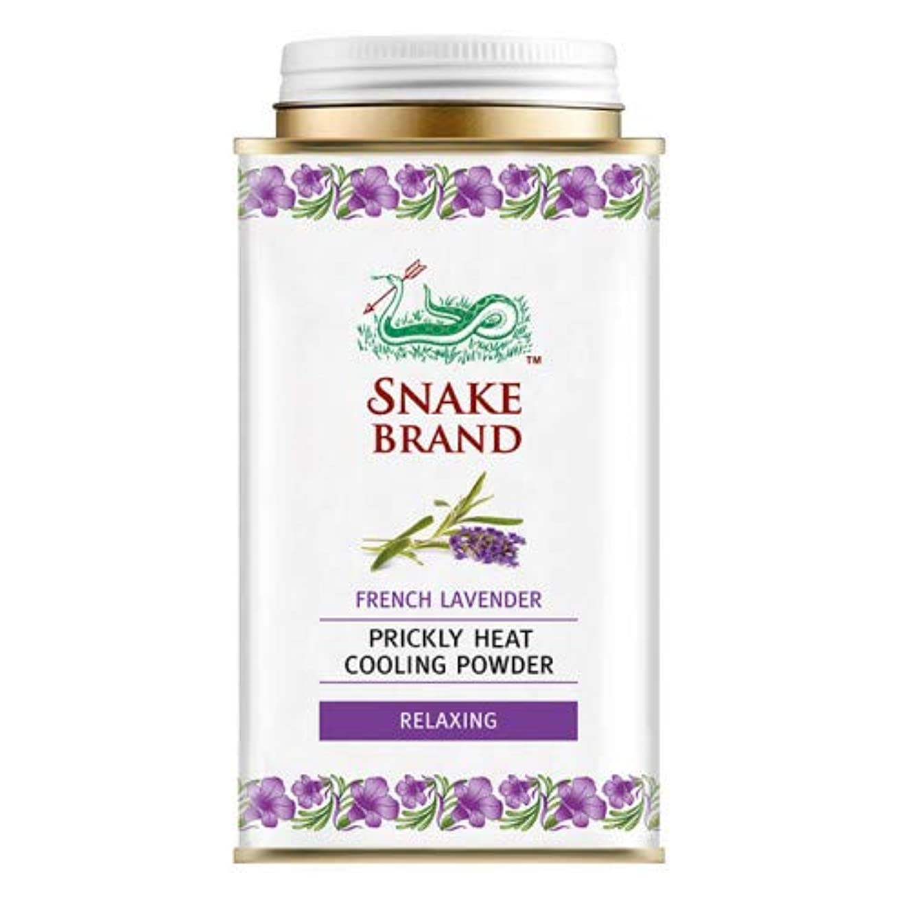 代わりの強風解明するSnake Brand Prickly Heat Cooling Powder, good for heat rash 140 g. (French Lavender)