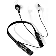 Active Noise Cancelling Wireless Bluetooth Earphones (4.1V) Neckband In Ear Earbuds with Mic - Call Vibrate Alert –Wire Mode -15Hours Talk Time for iPhones, Adroid, Laptop, PC, Bluetooth Enables Devices.