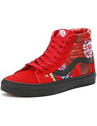 [バンズ] スニーカー スケートハイ SK8-HI SK8HI (Festival Satin) Red/Black 26.0 US8.0