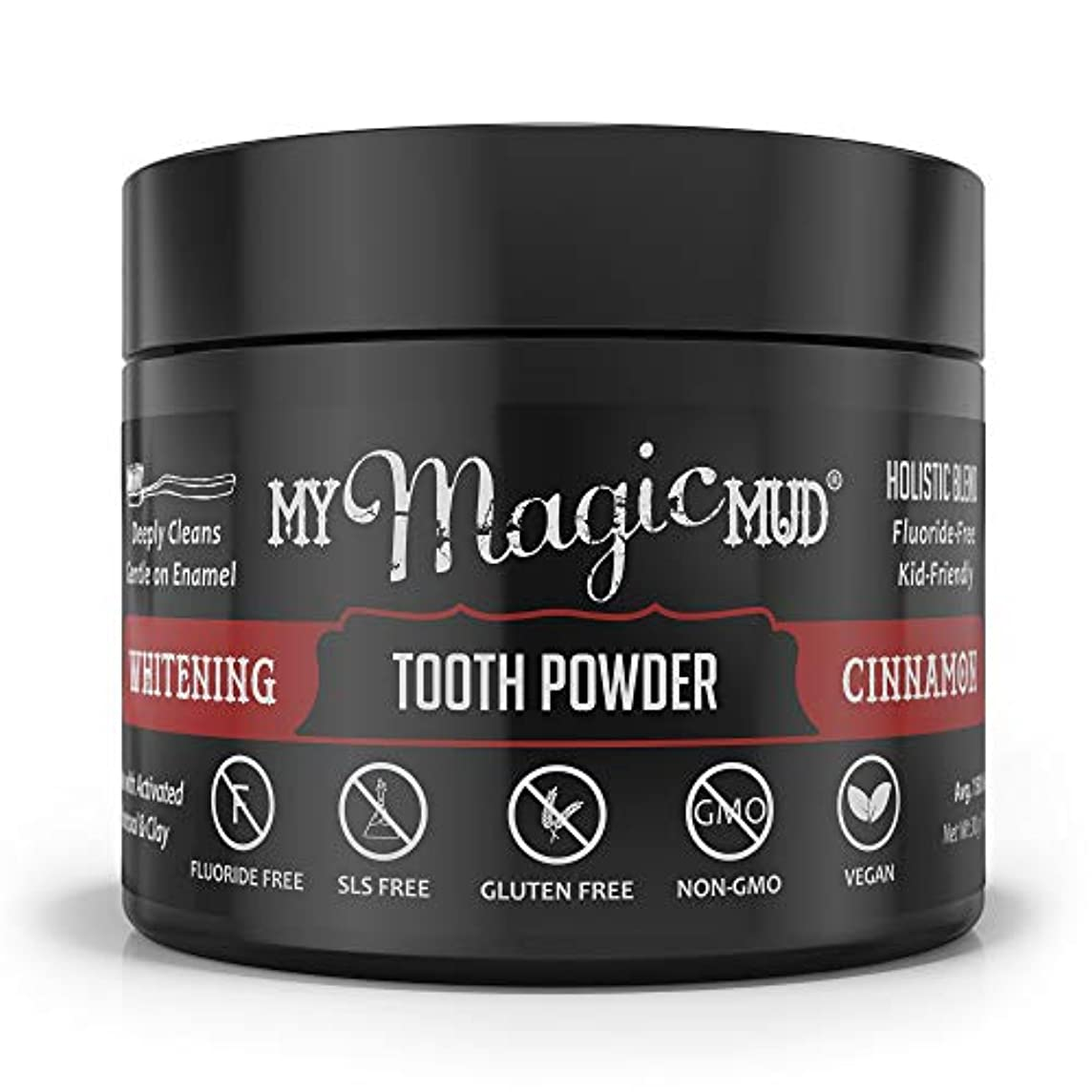 今まで病弱硬いMy Magic Mud Activated Charcoal Whitening Tooth Powder - Cinnamon 30g/1.06oz並行輸入品