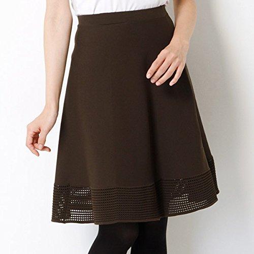 アプワイザー・リッシェ(Apuweiser-riche) 『AneCan10月号掲載商品』裾メッシュニットフレアスカート